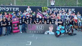 The MotoGP™ paddock & community pays tribute to Luis Salom on race day at the #CatalanGP.