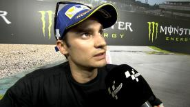 Dani Pedrosa finished third in a race where he struggled with the tyres from the first lap.