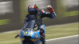 Relive all the drama from the final lap in the Moto3™ race at the Catalan GP.