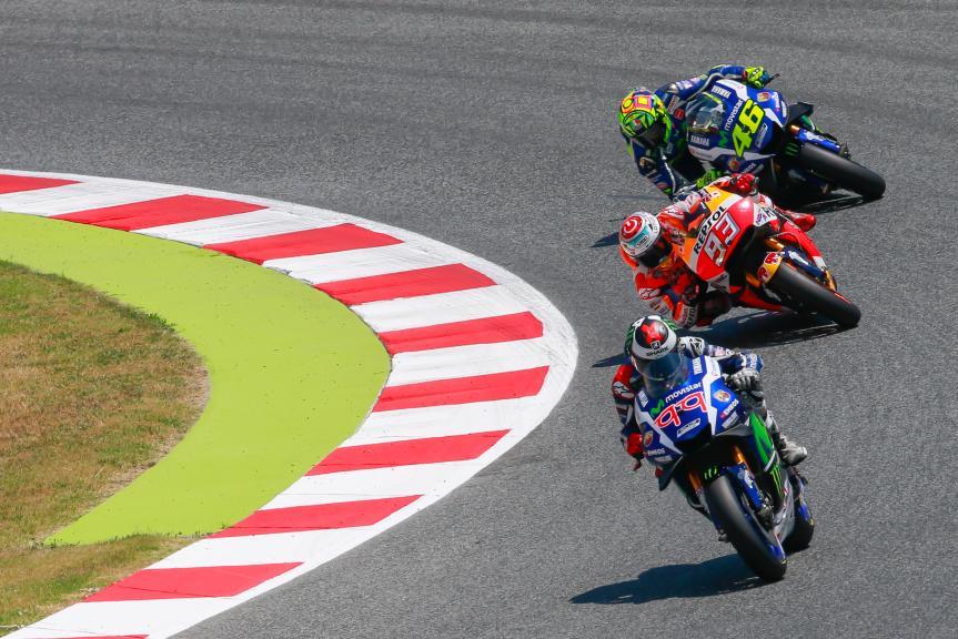 Valentino Rossi, Jorge Lorenzo, Movistar Yamaha MotoGP, Gran Premi Monster Energy de CatalunyaMarc Marquez,