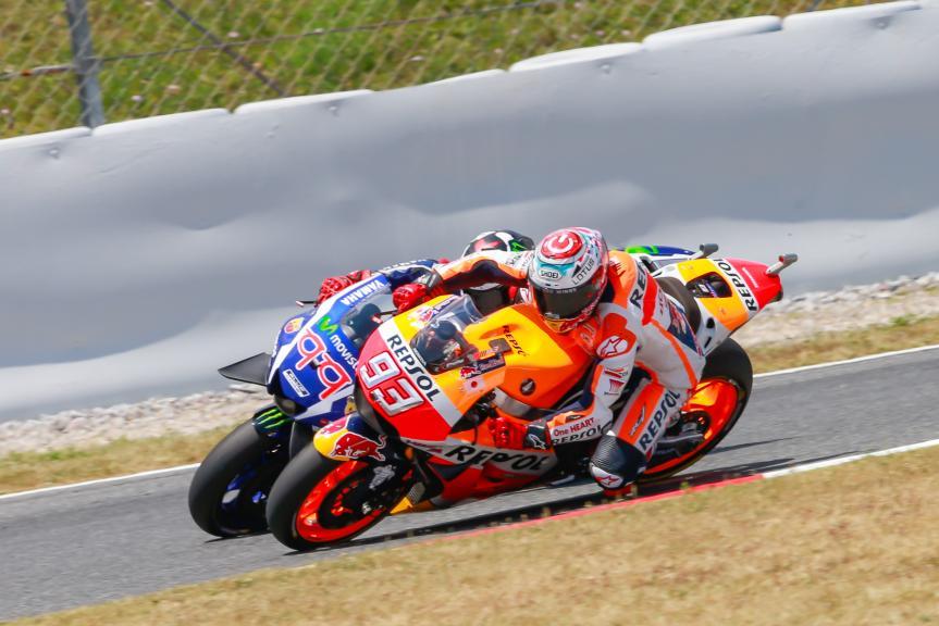 Marc Marquez, Repsol Honda Team, Jorge Lorenzo, Movistar Yamaha MotoGP, Gran Premi Monster Energy de Catalunya