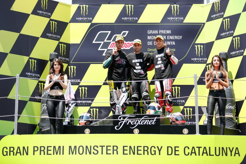Johann Zarco, Alex Rins, Takaaki Nakagami, Gran Premi Monster Energy de Catalunya