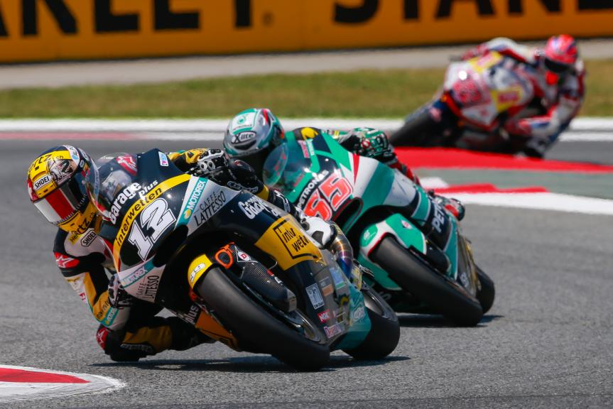 Thomas Luthi, Garage Plus Interwetten and Hafizh Syahrin, Petronas Raceline Malaysia, Gran Premi Monster Energy de Catalunya