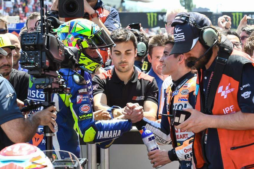 Valentino Rossi, Marc Marquez, Gran Premi Monster Energy de Catalunya. @marcoguidetti62