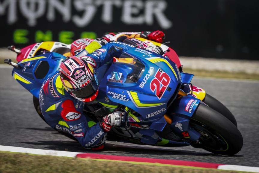 Maverick Viñales, Team SUZUKI ECSTAR and Marc Marquez, Repsol Honda Team, Gran Premi Monster Energy de Catalunya
