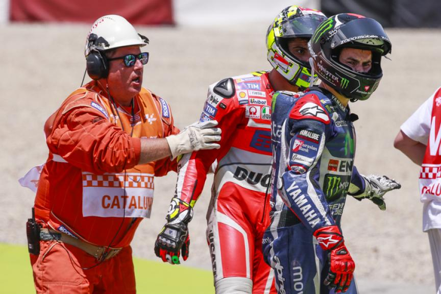 Jorge Lorenzo, Movistar Yamaha MotoGP and Andrea Iannone, Ducati Team, Gran Premi Monster Energy De Catalunya