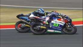 第7戦カタルーニャGPの中量級と軽量級からパッシングシーンを選出。  1. Maria Herera (Moto3) - 58 points 2. Hafizh Syahrin (Moto2) - 57 points 3. Brad Binder (Moto3) - 51 points 4. John McPhee (Moto3) - 44 points 5. Isaac Viñales (Moto2) - 43 points