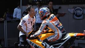 At the Catalan GP Dani Pedrosa recorded his fifth consecutive MotoGP™ podium at the Barcelona track, but not without a fight.