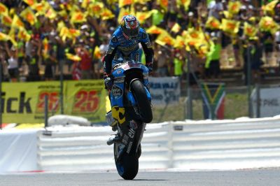 #WheelieWednesday Here's #JM43 @jackmilleraus entertaining the fans at @Circuitcat_eng #TeamEG00 https://t.co/pvt31M0NqF