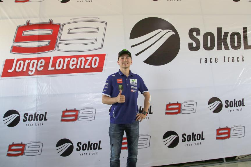 Jorge Lorenzo visited Sokol Racetrack