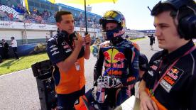 Brad Binder chatted to motogp.com about his maiden GP victory and his aims for the season.