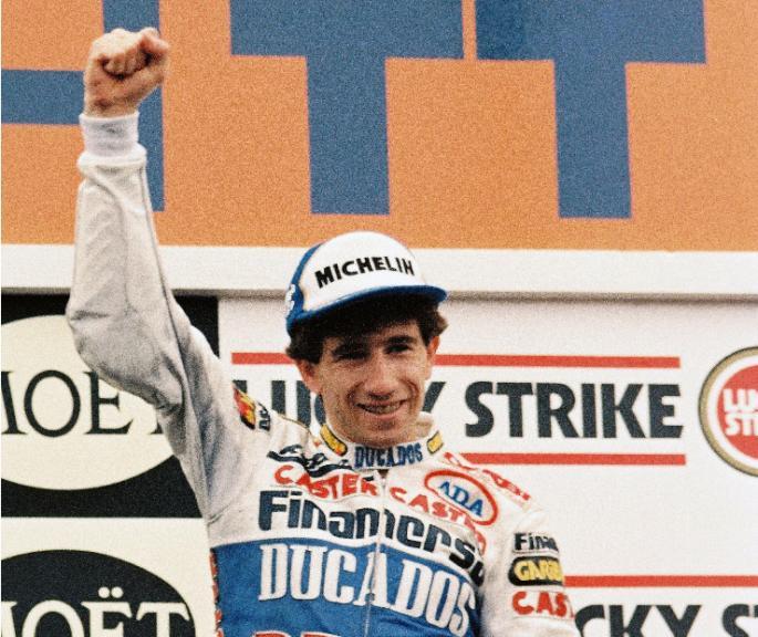 Jorge Martinez Aspar. GP de Holanda de 125cc. 1988