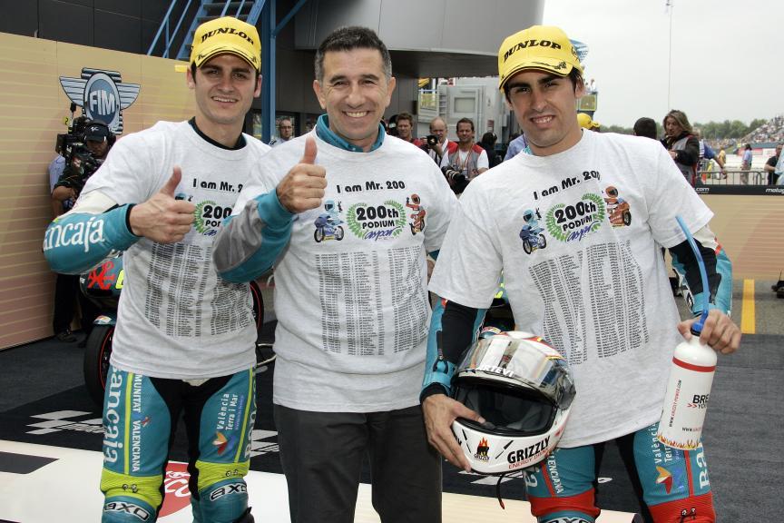 Aspar Team GP de Holanda 20009 Jorge Martínez, Sergio Gadea y Julián Simón