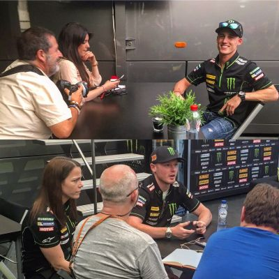 Pre #DutchGP interview time for @polespargaro and @bradleysmith38 with the