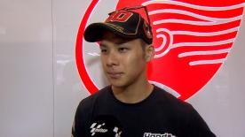 Takaaki Nakagami, qui a signé son premier podium de la saison à Barcelone, s'adjuge le deuxième chrono des premiers essais à Assen.