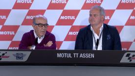 At the Dutch GP a press conference was held to announce a ten-year extension to the deal between Dorna Sports and the TT Circuit Assen.