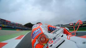 Relive Dovizioso's pole setting lap at the TT Circuit Assen, complete with telemetry data.