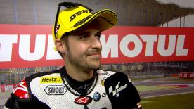 Thomas Luthi secured pole position for the Moto2™ race at Assen after heading out with slicks on a still drying track.