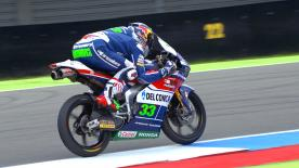 Enea Bastianini beat the rain to take his first pole position since Aragon in 2015 ahead of Andrea Migno and Nicolo Bulega.
