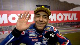 The italian rider gets his first Pole Position of the season despite his problems in the morning sessions.