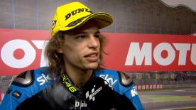 The Italian rider was happy with his performance in Moto3™ QP.