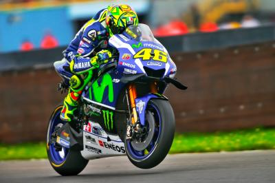 "Rossi: ""Some places of the track that were starting to dry"""
