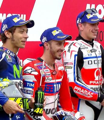 Rossi, Marquez & Lorenzo's pole run brought to an end