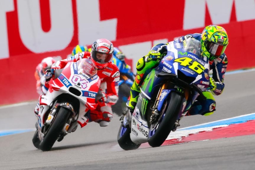 Andrea Dovizioso, Ducati Team, Valentino Rossi, Movistar Yamaha MotoGP, Motul TT Assen