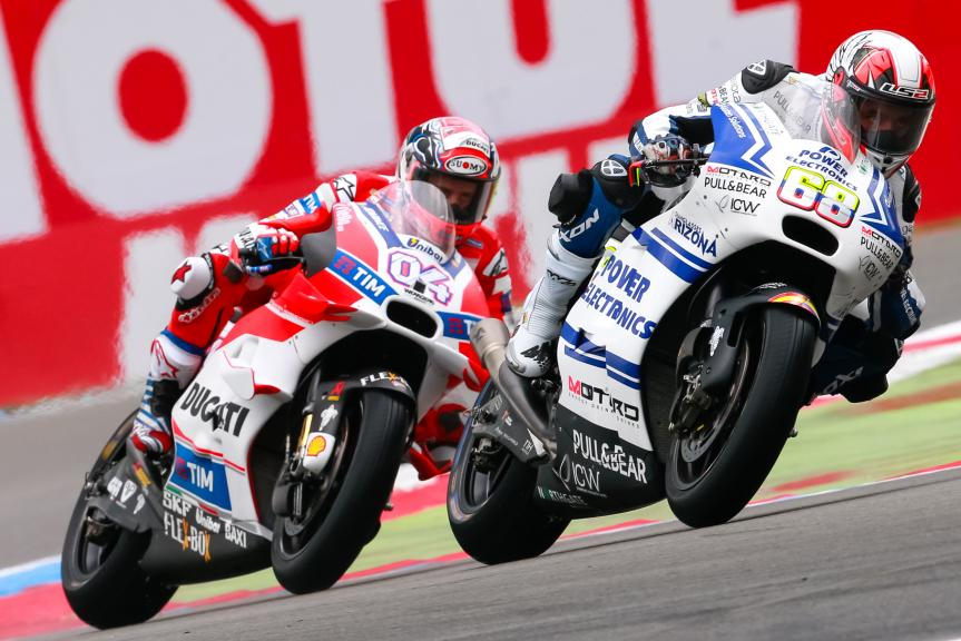 Andrea Dovizioso, Ducati Team, Yonny Hernandez, Aspar Team MotoGP, Motul TT Assen
