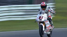 Francesco Bagnaia took his and Mahindra's first ever Moto3™ race victory at the Dutch GP ahead of Andrea Migno and Fabio Di Giannantonio.