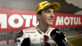 The Italian rider gets the first victory of his career and the first for manufacturer Mahindra.