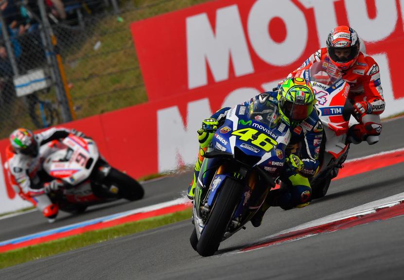 Valentino Rossi, Movistar Yamaha MotoGP and Andrea Dovizioso, Ducati Team, Motul TT Assen