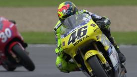 Re-live the full race from the classic 2000 British GP at Donington.