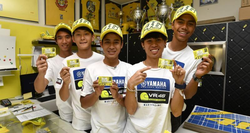 Para pebalap Yamaha Asia berkunjung ke Fan Klub Resmi VR46. (MotoGP)