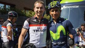 Présent à Andorre pour le passage du Tour de France, le Majorquin a eu l'occasion de s'entraîner avec le team Movistar.
