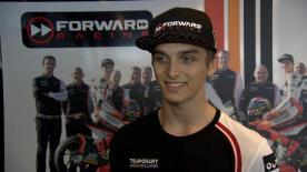 Luca Marini, demi-frère de Valentino Rossi, partage sa joie d'avoir réussi ses examens.