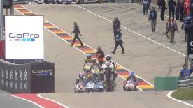 La prima sessione di prove libere per la Moto3™ sulla pista del Sachsenring.