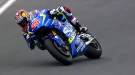 Maverick Viñales topped Friday's practice at the Sachsenring ahead of Iannone and Marquez, with no Yamaha in the top ten.