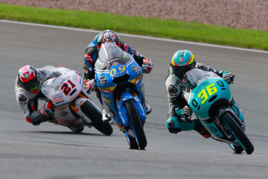 Jorge Navarro, Francesco Bagnaia, Joan Mir, GoPro Motorrad Grand Prix Deutschland