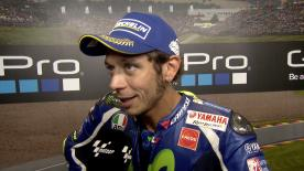 Valentino Rossi qualified in 3rd place on the grid for the German GP after overcoming his tyre issues.