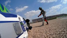 Jorge Lorenzo ended up crashing twice on during Qualifying at the German GP and will have to start the race from 11th on the grid.