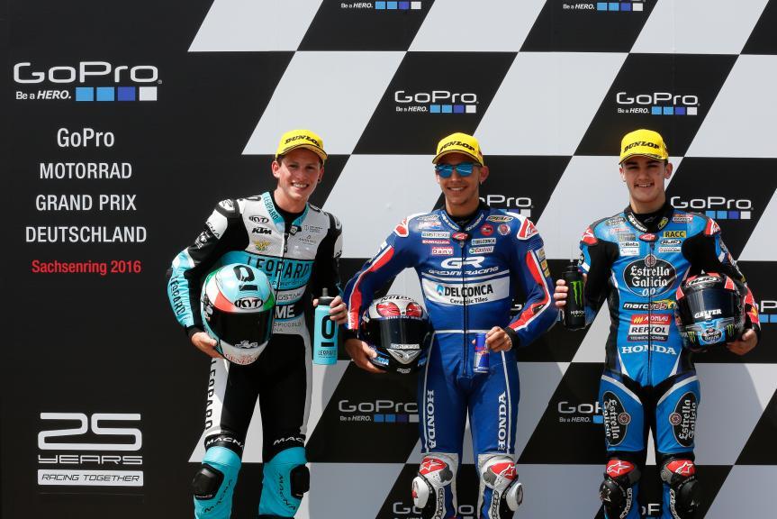 Enea Bastianini, Andrea Locatelli, Aron Canet, GoPro Motorrad Grand Prix Deutschland