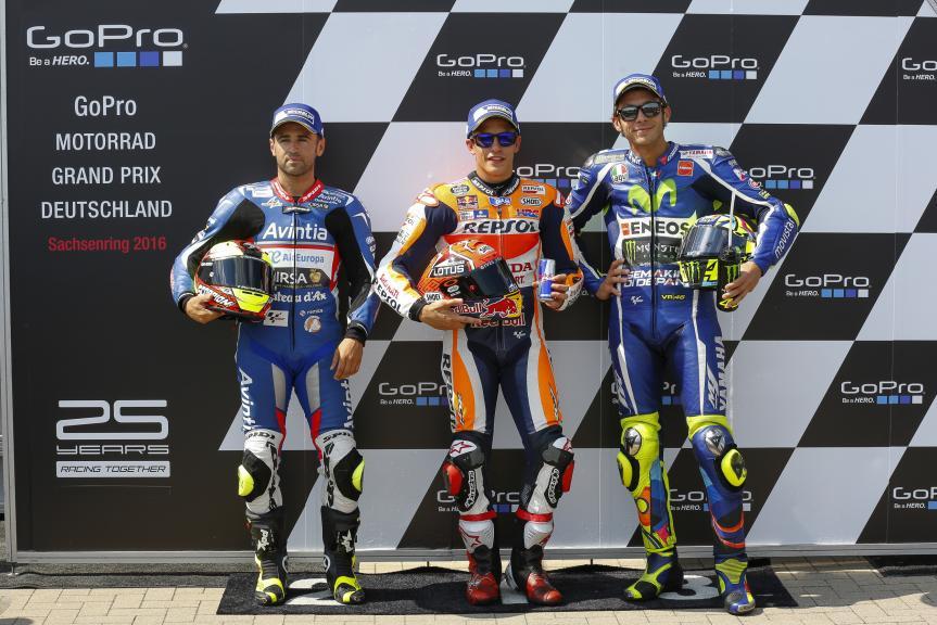 Marc Marquez, Hector Barbera, Valentino Rossi GoPro Motorrad Grand Prix Deutschland