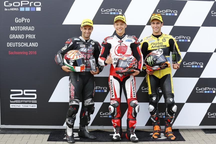 Takaaki Nakagami, Johann Zarco, Alex Rins, GoPro Motorrad Grand Prix Deutschland