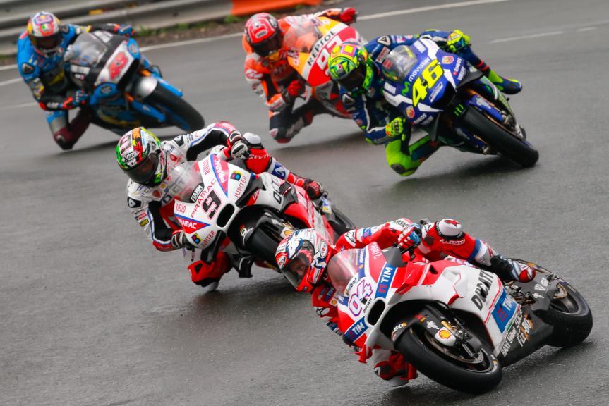 Andrea Dovizioso, Danilo Petrucci, Valentino Rossi, GoPro Motorrad Grand Prix Deutschland