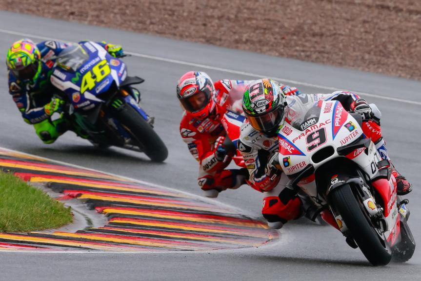 Danilo Petrucci, Andrea Dovizioso, Valentino Rossi, GoPro Motorrad Grand Prix Deutschland