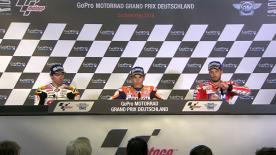 I migliori piloti della classe regina parlano della loro gara sulla pista del Sachsenring.
