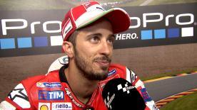 Il pilota Ducati strappa un meritato podi finale al GP di Germania.