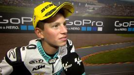 Andrea Locatelli conquista il suo primo podio della classe leggera.