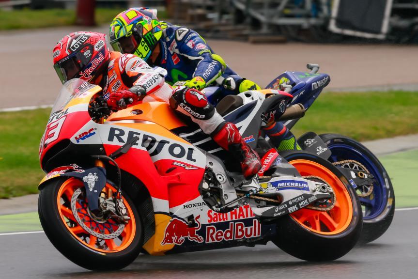 Marc Marquez, Repsol Honda Team and Valentino Rossi, Movistar Yamaha MotoGP, GoPro Motorrad Grand Prix Deutschland